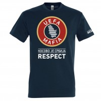 "tričko ""UEFA MAFIA - КОСОВО ЈЕ СРБИЈА"""