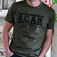 """A.C.A.B."" semiš - khaki"